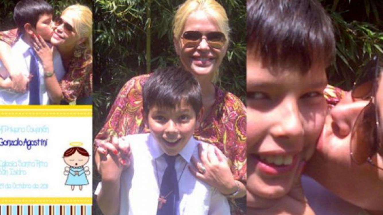 La accidentada Primera Comunión del hijo de Nazarena Vélez. (Foto: Twitter)