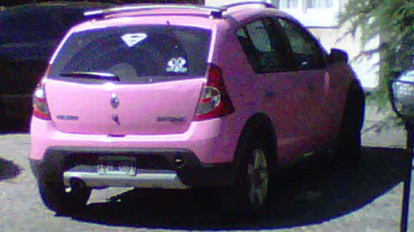 Silvina Escudero publicó en Twitter una foto del auto en cuestión (Foto: Web).