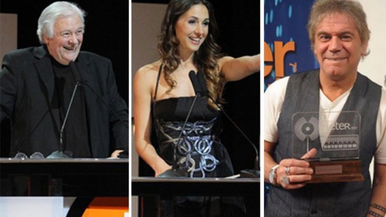 Héctor Larrea, Julieta Pink y Beto Casella en los premios Eter. (Foto: Web)