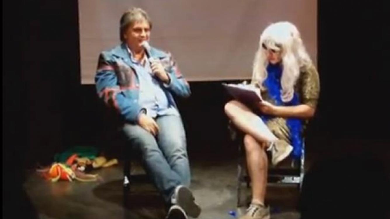 Luis Ventura y Jey Mammon, en el personaje de Estelita. (Captura: YouTube)