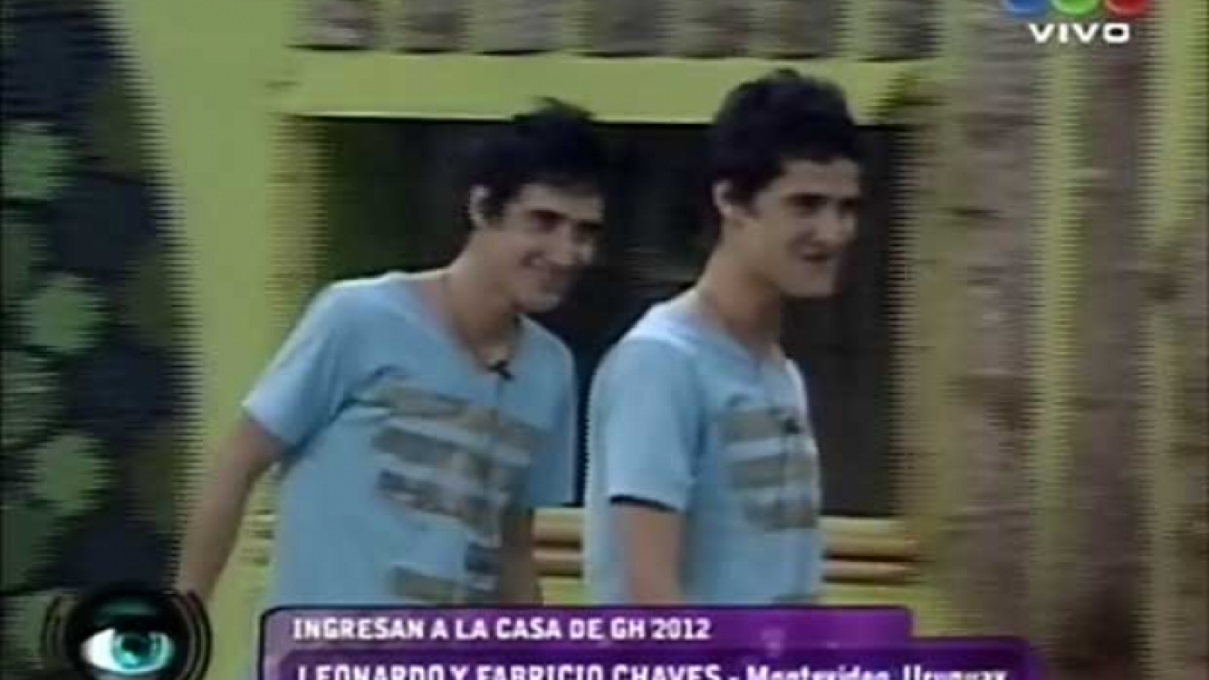 Leonardo y Fabricio Chaves ganaron el ingreso a Gran Hermano 2012. (Foto: captura TV)