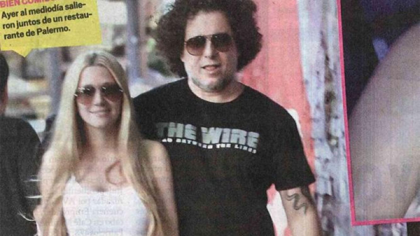 Romance confirmado: Micaela Breque y Andrés Calamaro, juntos. (Foto: Diario Muy)
