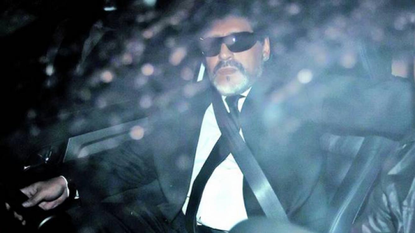 Maradona llegó al país a darle el último adiós a Doña Tota. (Foto: Clarín)