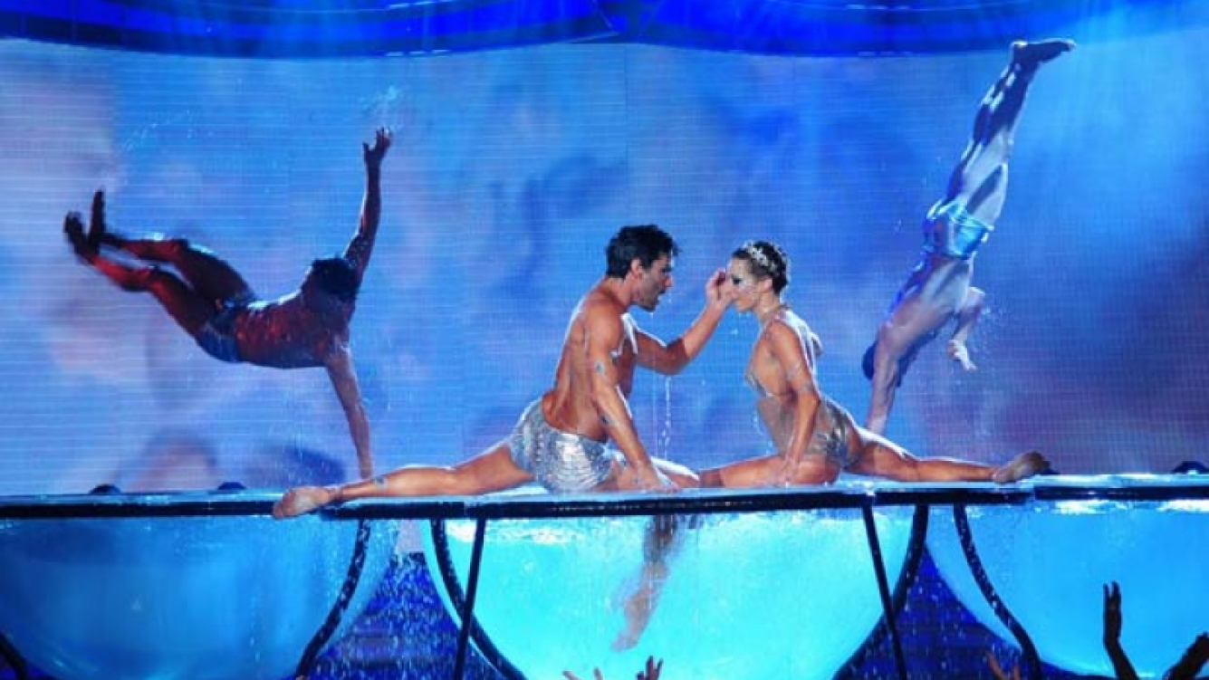 El Aquadance le dio grandes picos de rating a ShowMatch. (Foto: Ideas del Sur)