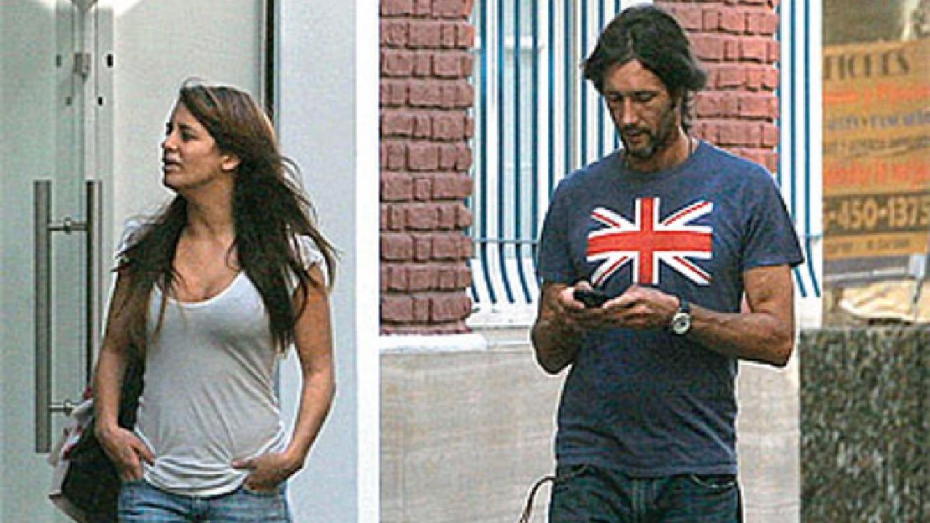 Victoria Rodríguez y Eduardo Celasco, casi dos años atrás cuando lo encontraron los paparazzis (Foto: Web).