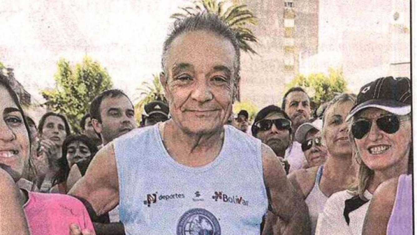 Horacio Alfonso, en la maratón de Bolívar. (Foto: Semanario)