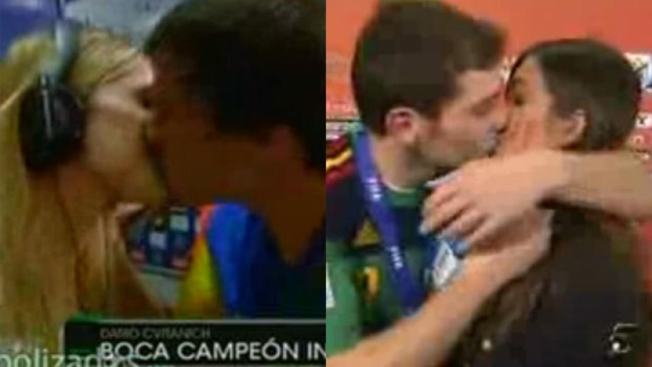 En España hablan del beso de Chechu Bonelli y Darío Cvitanich.