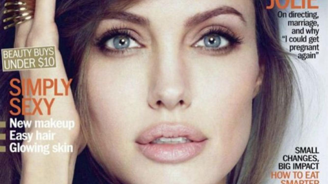 Angelina Jolie, tapa de enero de Marie Claire.