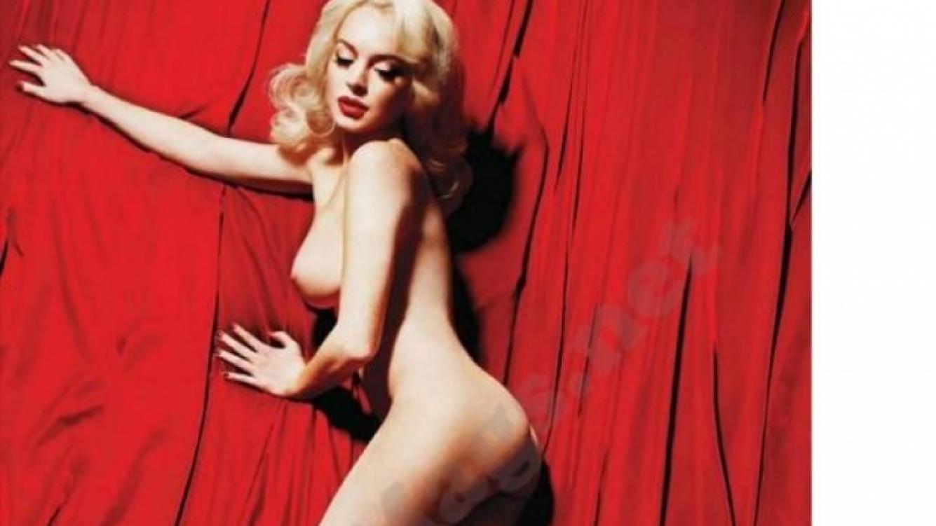 Lindsay Lohan como Marilyn Monroe en Playboy.