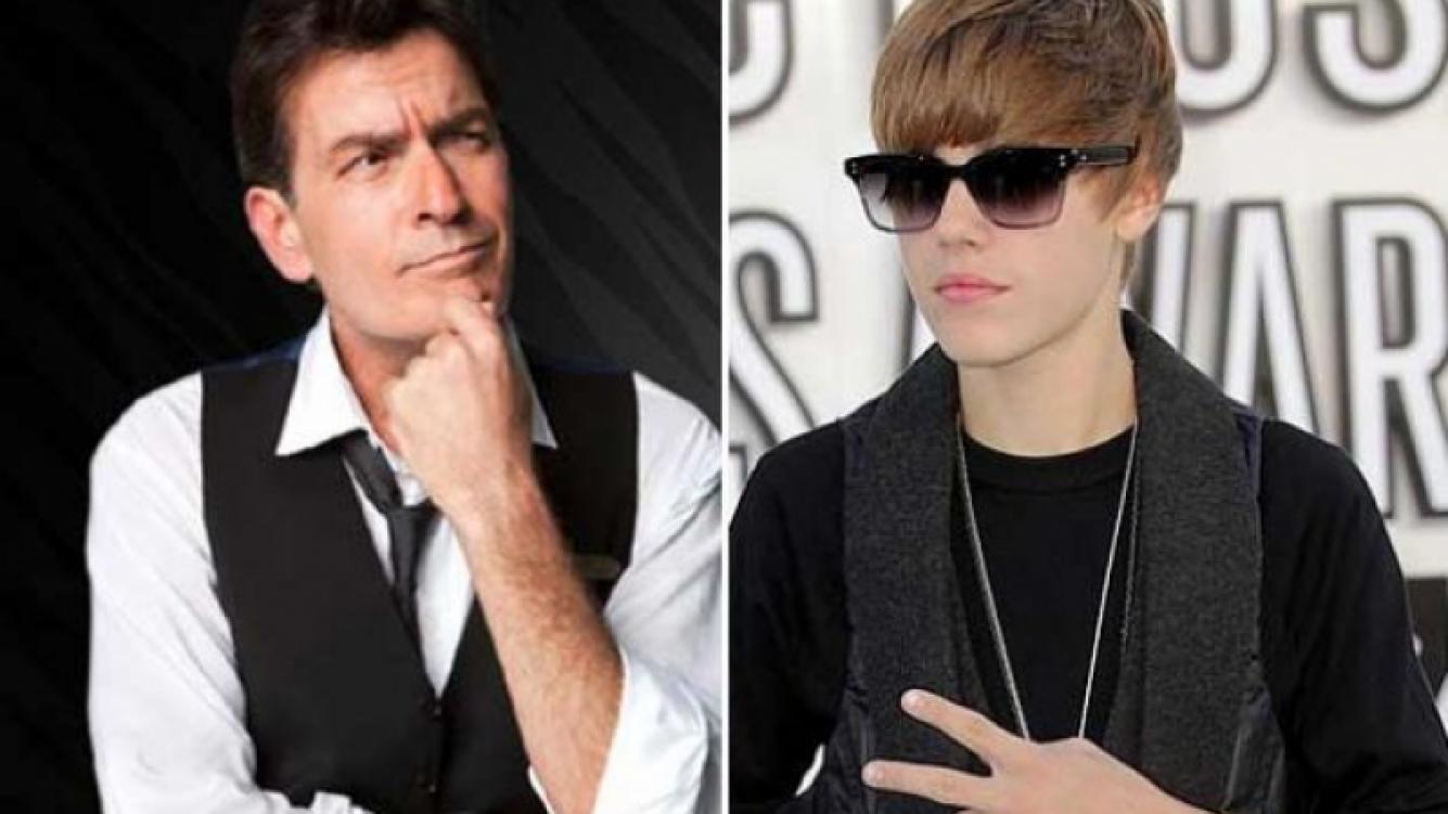 Charlie Sheen, Justin Bieber y un insólito blooper en Twitter. (Foto: Web)