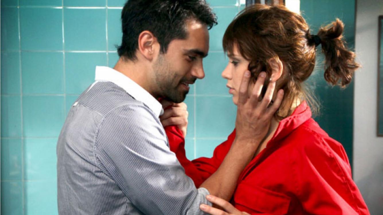 Gonzalo Heredia y Vanesa González en la primera jornada de grabación (Foto: Prensa El Trece).