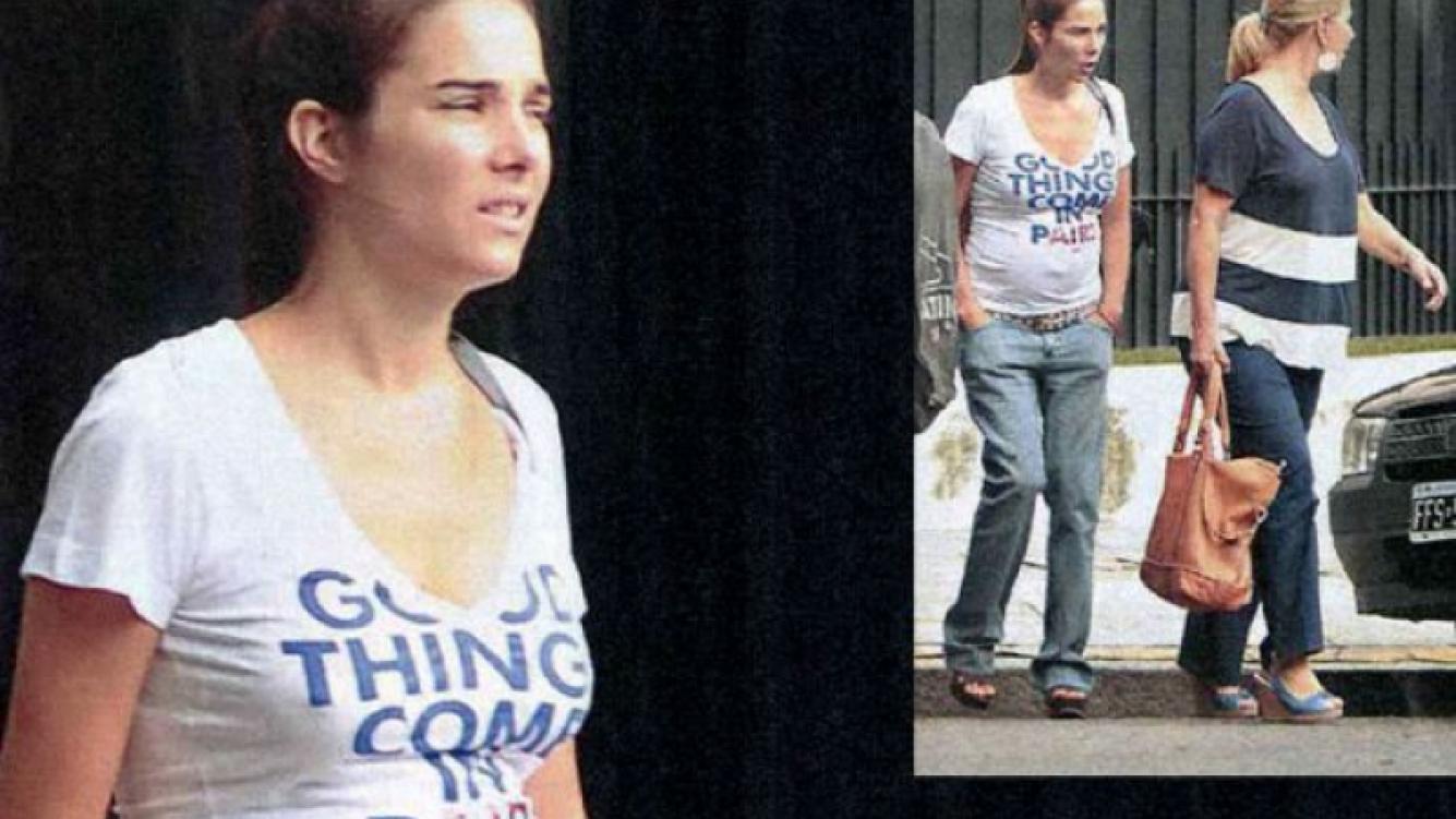 Juana Viale pasea por Palermo con su pancita. (Foto: revista Paparazzi)