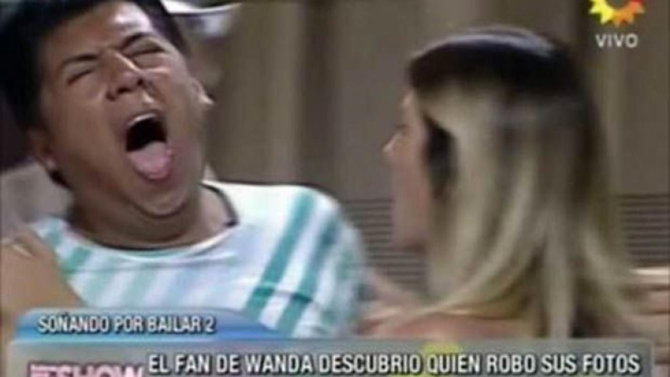 El fan de Wanda Nara: historia de una mentira. (Captura: El Trece)