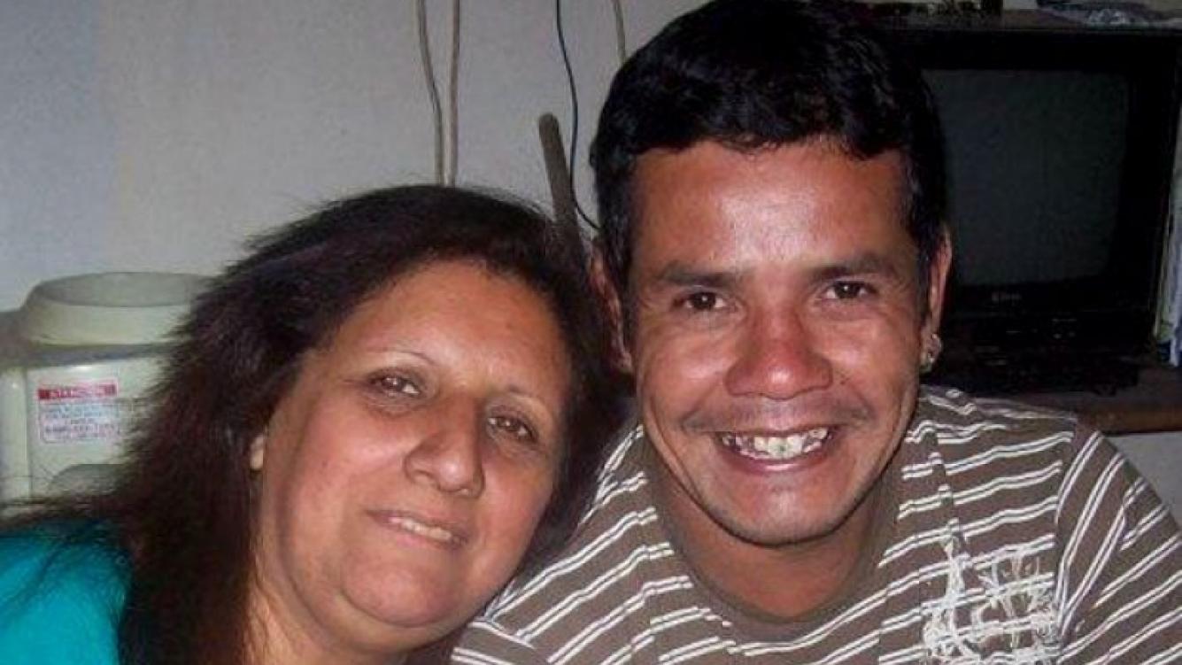 Fernanda Toce y su actual pareja, también músico, Christian Noguera.
