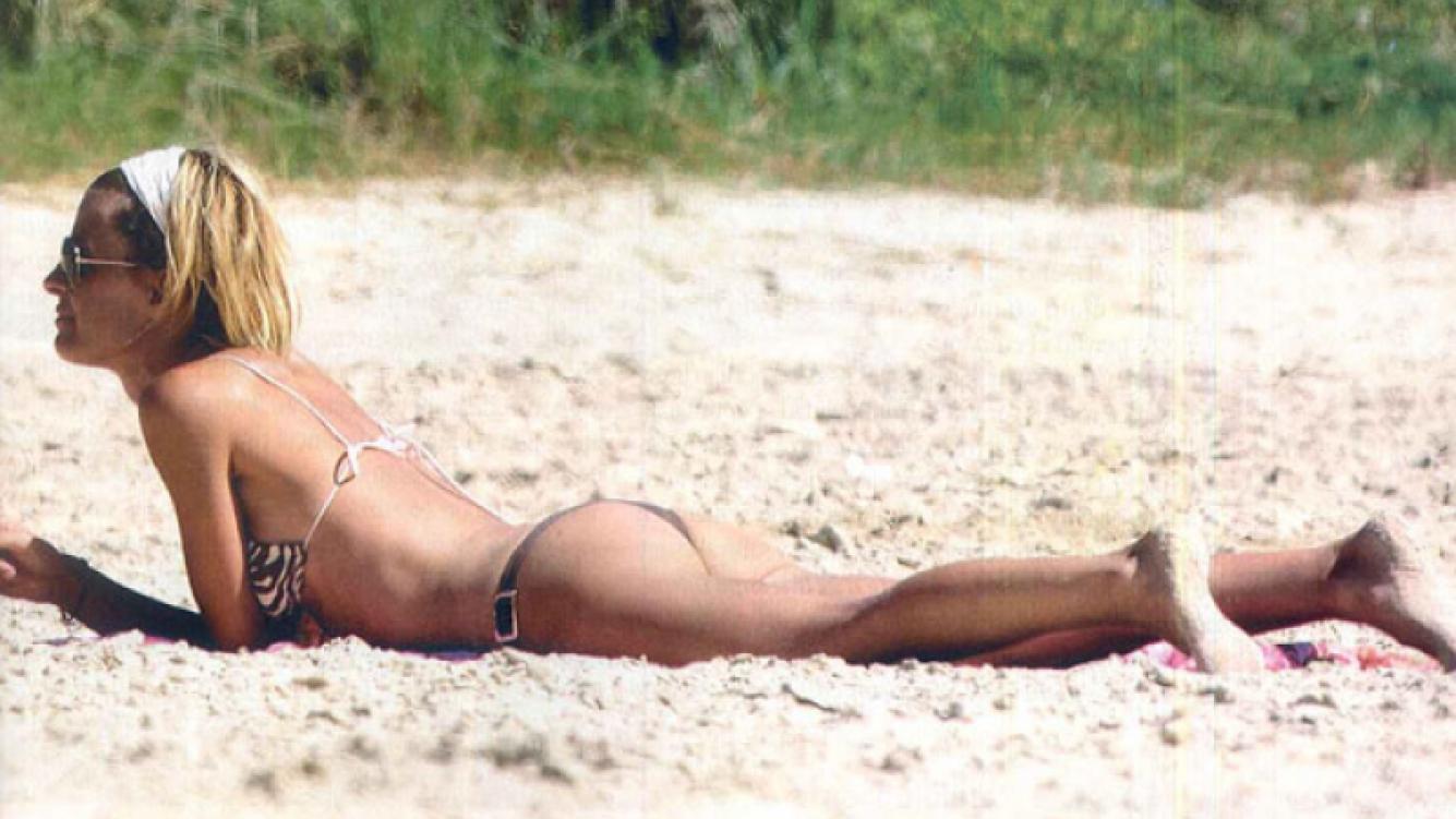 Eugenia Tobal, sola en Cabo Polonio (Foto: Revista Gente).