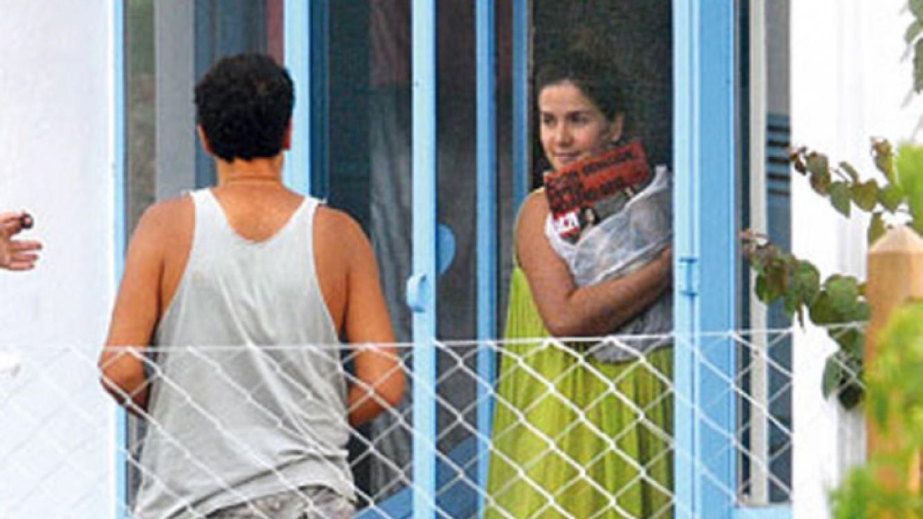 Natalia Oreiro junto a Ricardo Mollo, a punto de dar a luz (Foto: Gente).