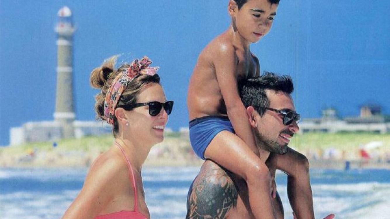 Yanina Scprepante, El Pocho y su hijo Tomás. (Foto: Caras)