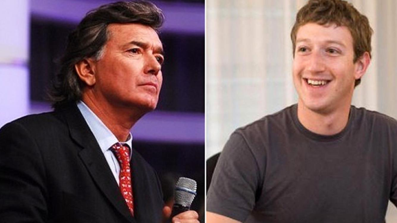 """Pancho Dotto, """"celoso"""" de Mark Zuckerberg, el creador de Facebook. (Fotos: Web)"""