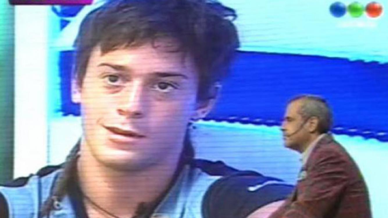 Nazareno Bellini, eliminado de Gran Hermano 2012. (Imagen: Web)