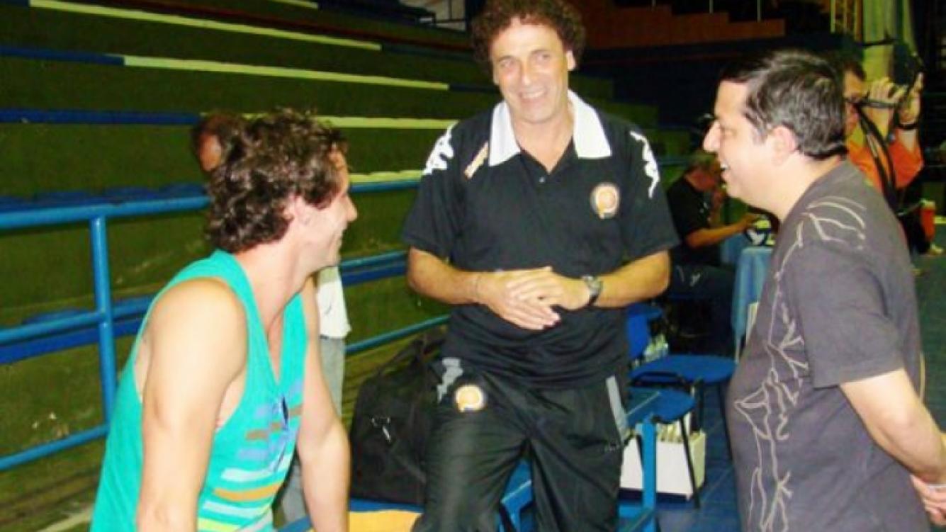 Gonzalo Valenzuela en el club Buenos Aires Unidos. (Foto: gentileza ACLAV)