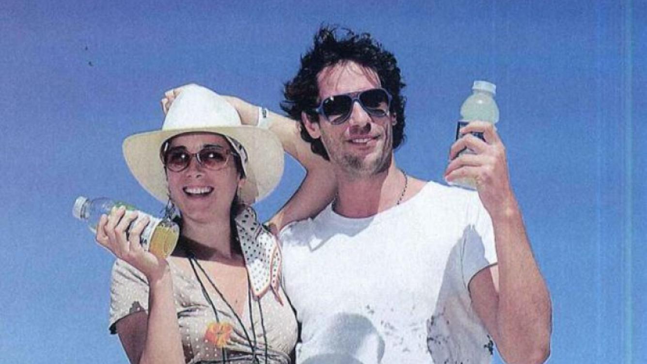 Juana Viale y Gonzalo Valenzuela en la promoción de la bebida. (Foto: revista Gente)