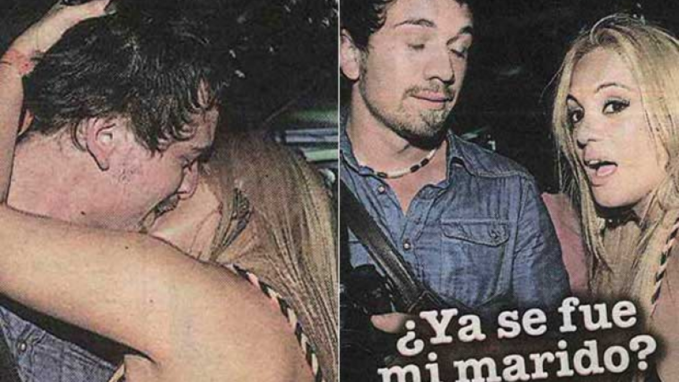 María Eugenia Ritó a los besos con un fotógrafo. (Foto: diario Libre)