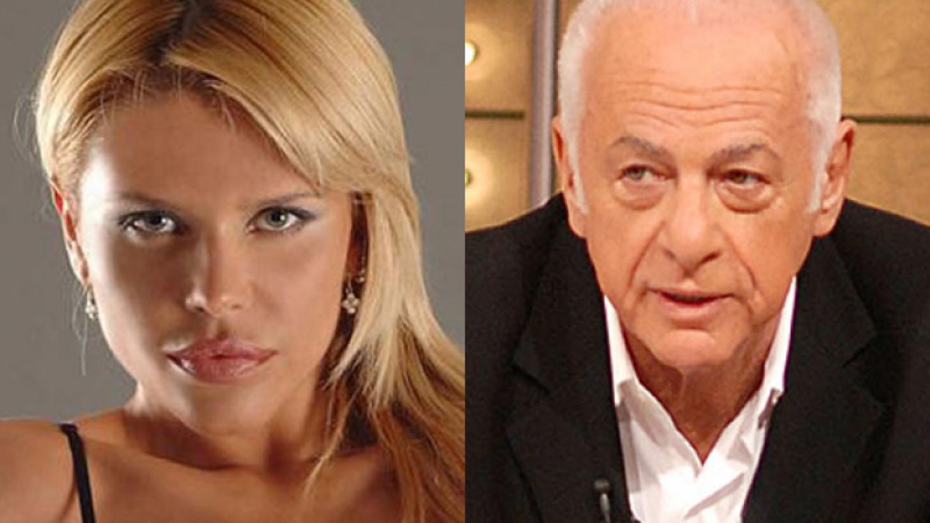 """Nazarena Vélez y """"un palito"""" para Gerardo Sofovich. (Foto: Web)"""