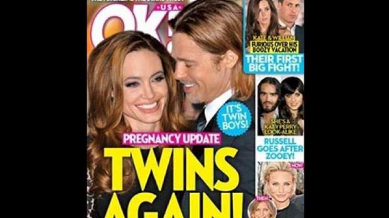 Angelina Jolie, ¿otra vez embarazada de mellizos? (Foto: revista OK!)