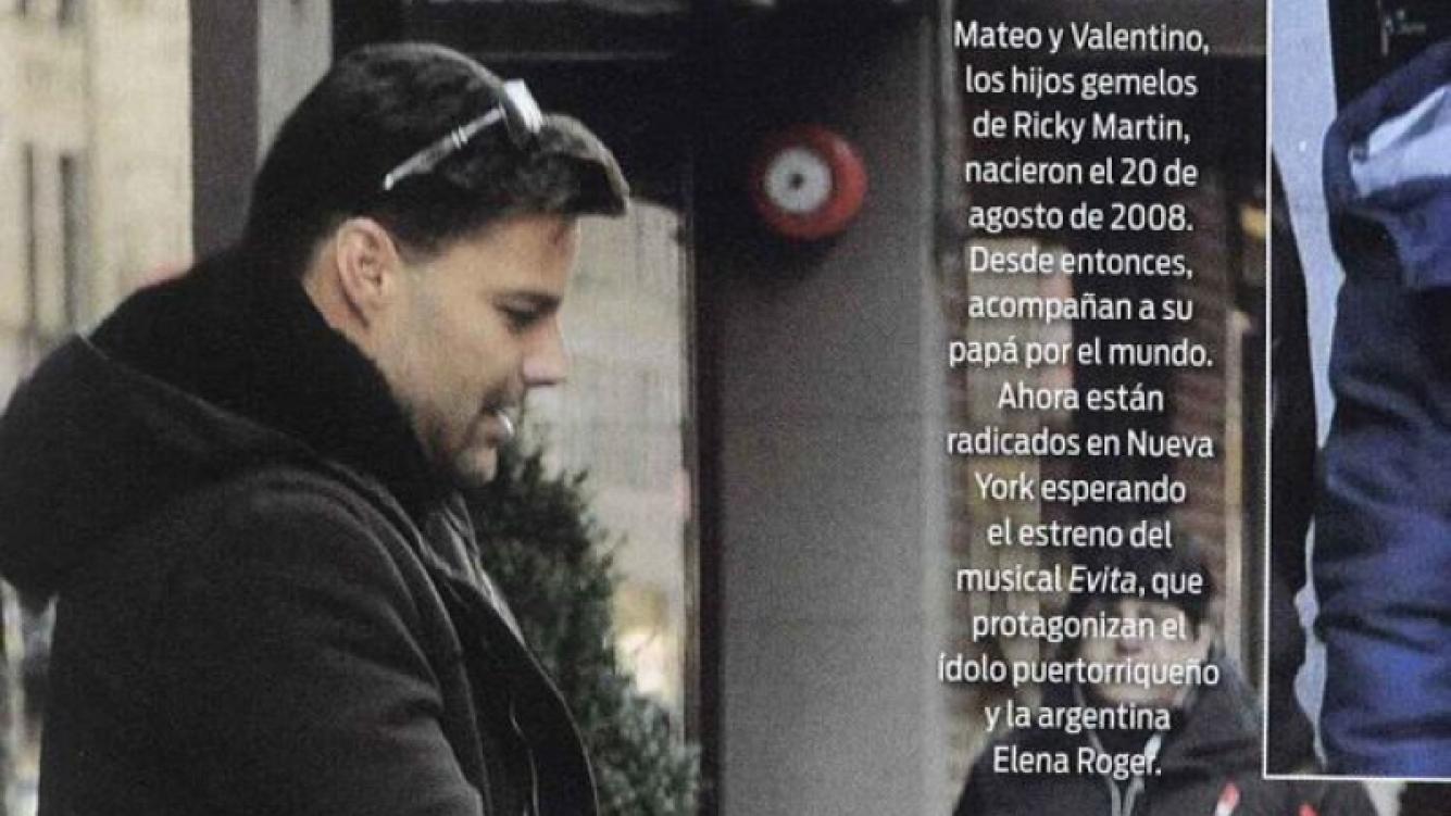 Ricky Martin con Valentino y Matteo, sus hijos. (Foto: revista ¡Hola! Argentina)
