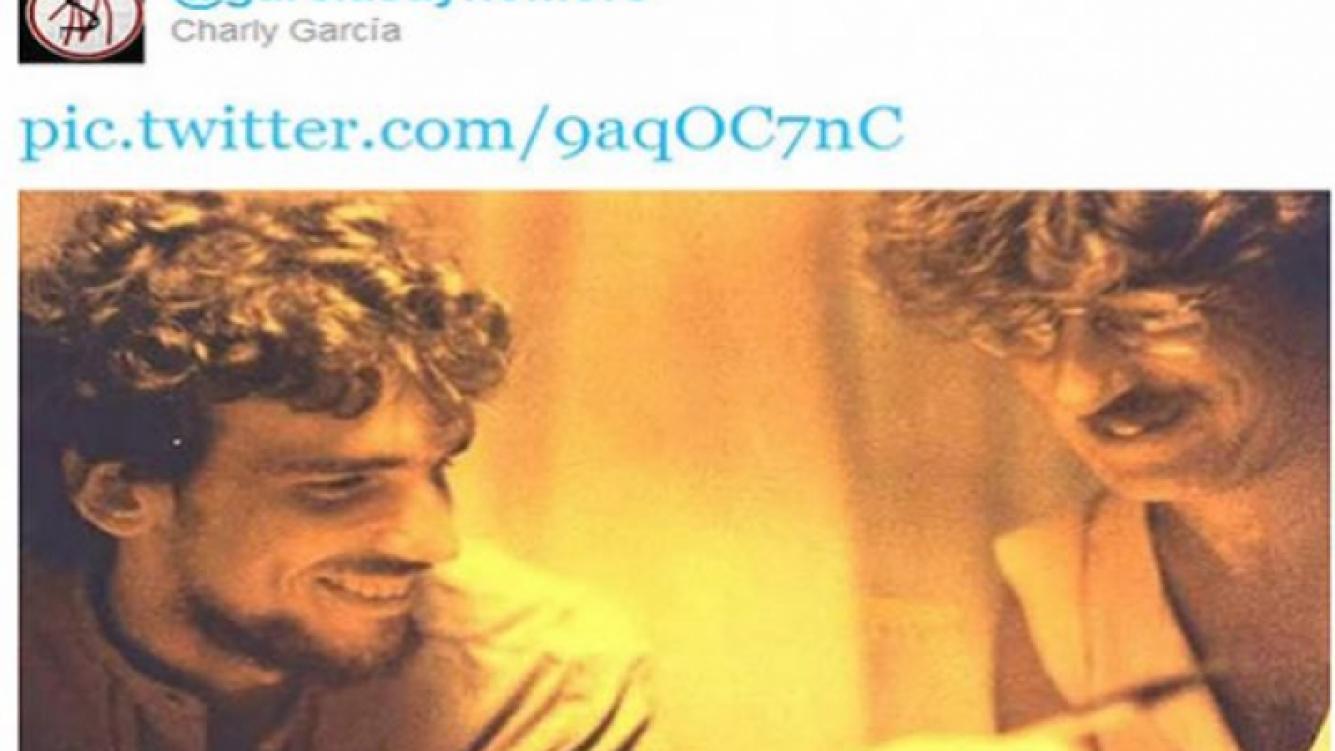 Los homenajes de Charly García a Luis Alberto Spinetta. (Foto: Twitter)