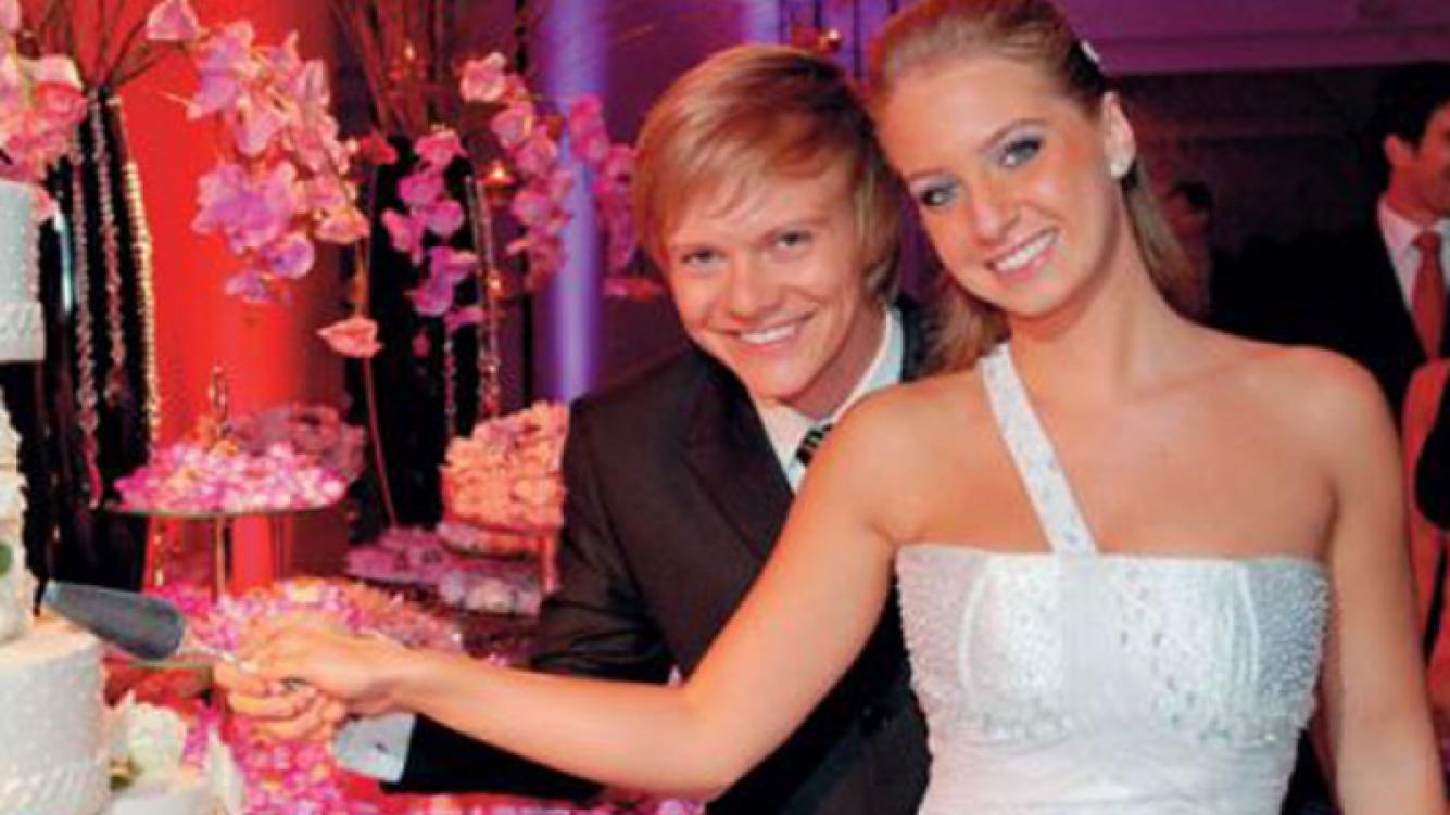 Michel Teló y Ana Carolina, el día de su boda (Foto: Web).