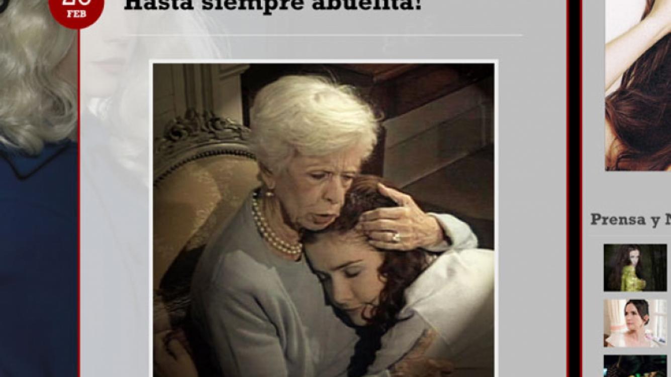 El homenaje de Natalia Oreiro a Lydia Lamaison (Foto: www.nataliaoreiro.com).