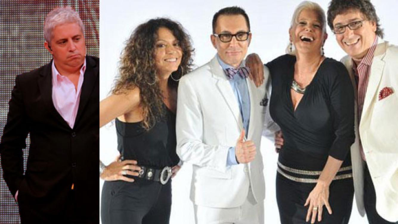 Mariano Peluffo, indignado por el parecido de Soñando por cantar a Talento argentino. (Fotos: Telefe e Ideas)