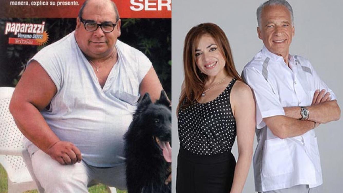 Roly Serrano, antes de iniciar el tratamiento en Cuestión de peso junto a Claribel Medina y Alberto Cormillot. (Foto: Web)