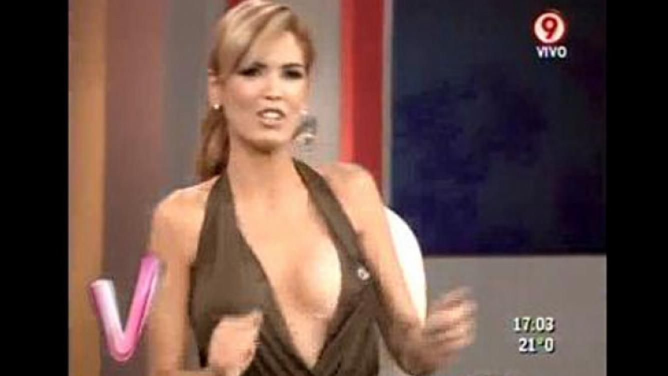 Viviana Canosa contó que las mujeres le escriben para elogiarle... su escote. (Imagen: captura Canal 9)