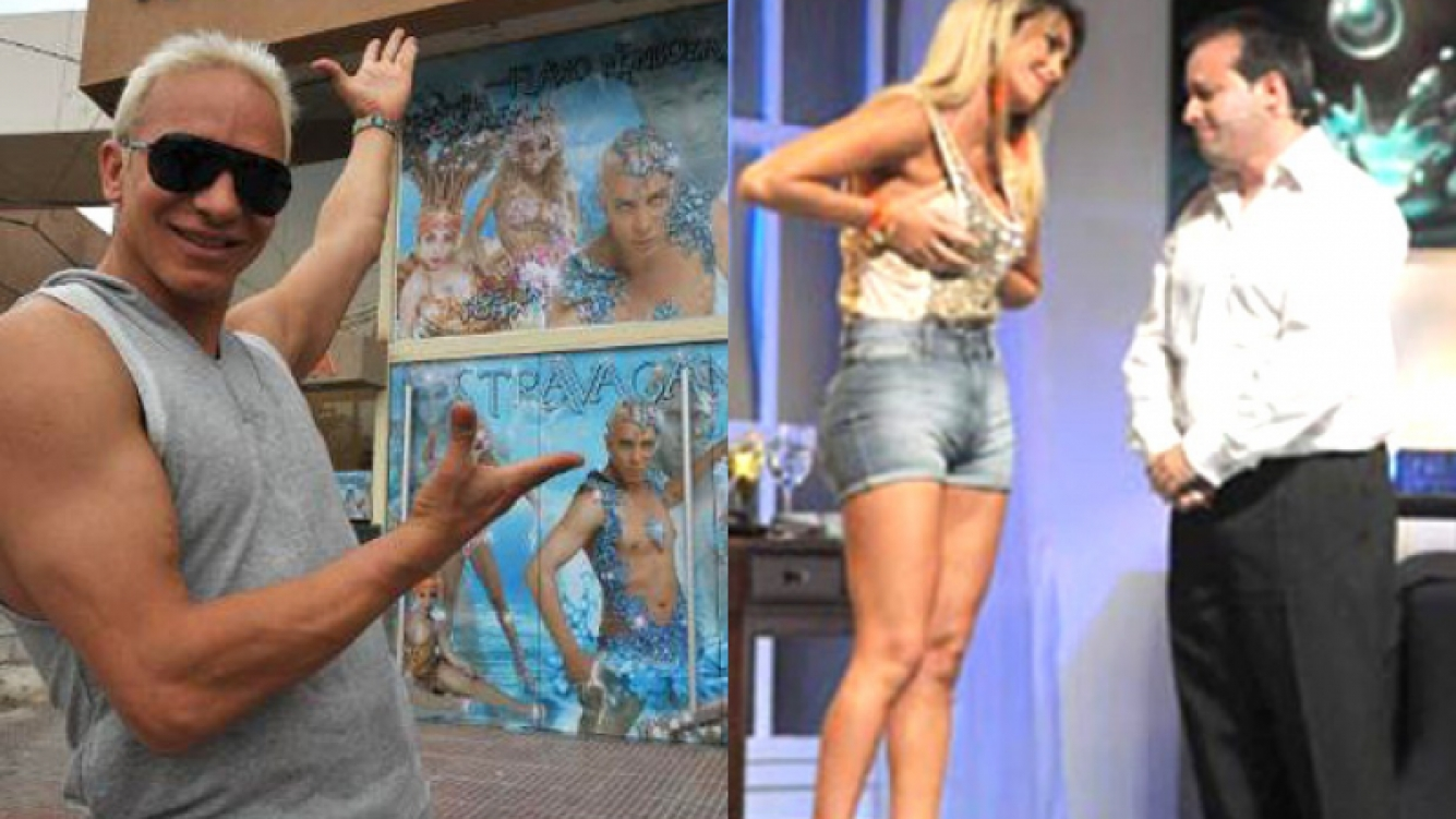 Flavio Mendoza y su Stravaganza, gran ganador. Silvina Luna y su Delicadamente inmoral: estrepitoso fracaso. (Fotos: Web)