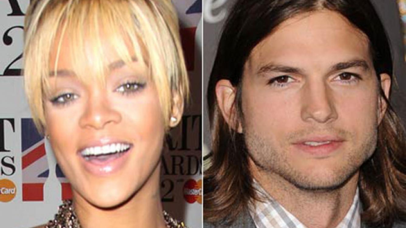 Rihanna y Ashton Kutcher, ¿juntos? (Fotos: Web)