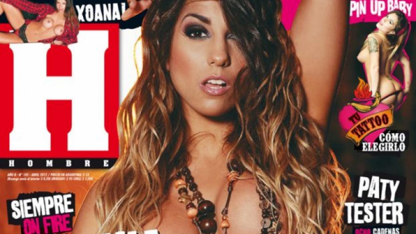Cinthia Fernández, desnudo total en la tapa de revista Hombre.