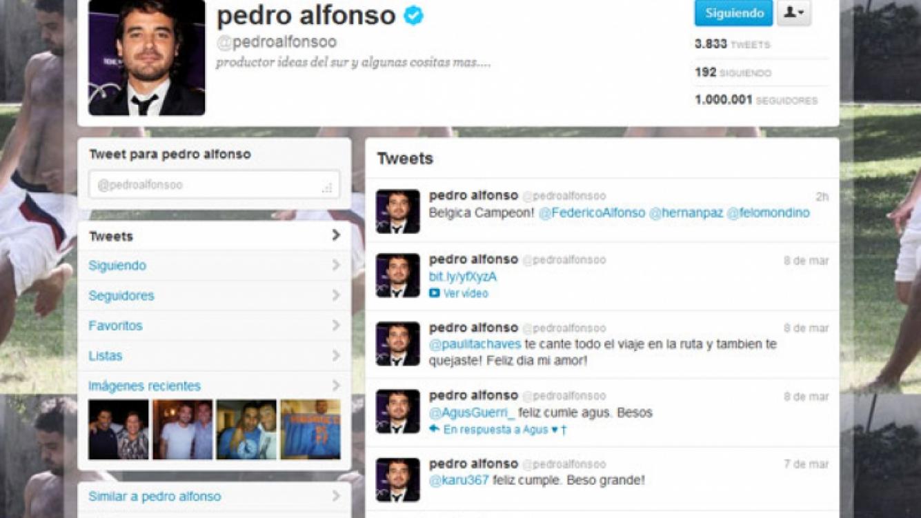 Peter Alfonso llegó al millón de seguidores en Twitter. (Imagen: captura Twitter)