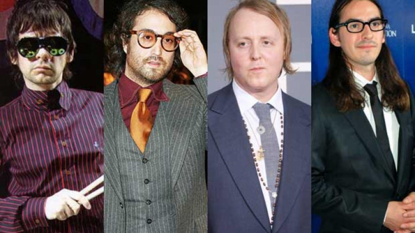 Zak Starkey, Sean Lennon, James McCartney y Dhani Harrison, los herederos de Los Beatles. (Fotos: Web)