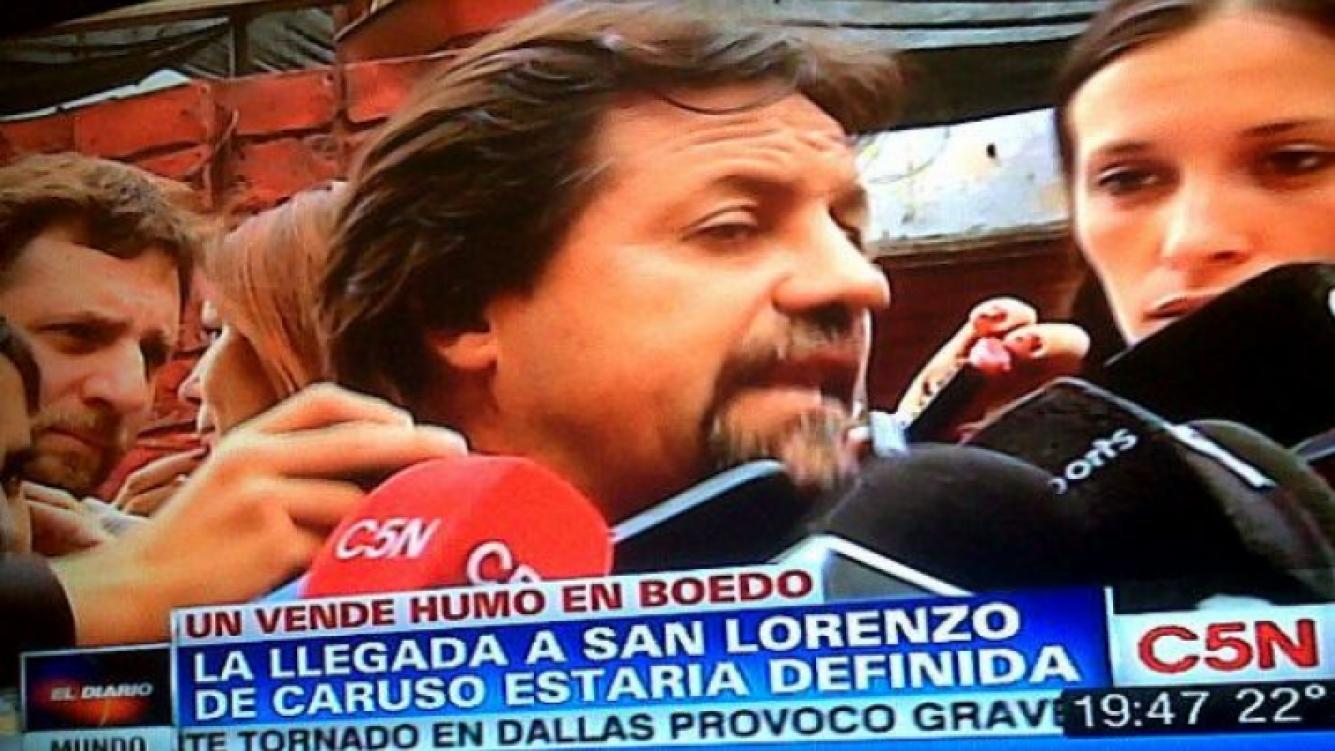 """Ricardo Caruso Lombardi, tildado de """"vende humo"""" por Elio Rossi en C5N. (Imagen: Captura C5N)"""