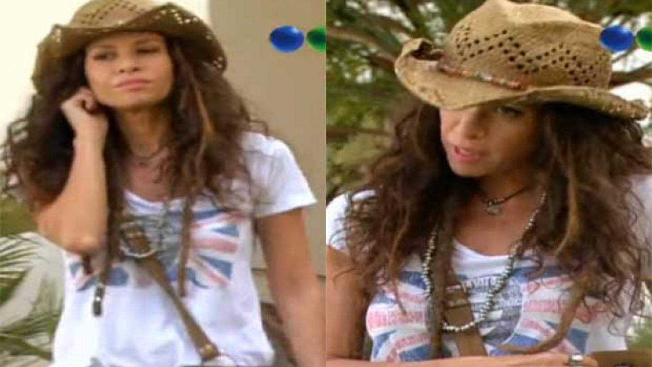 Julieta Ortega, en su personaje de Verónica en Graduados. (Fotos: captura TV)