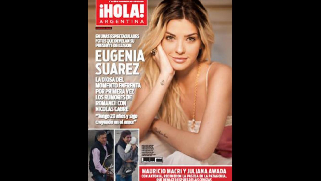 La China Suárez habló de su relación con Nicolás Cabré (Foto: Revista ¡Hola! Argentina)