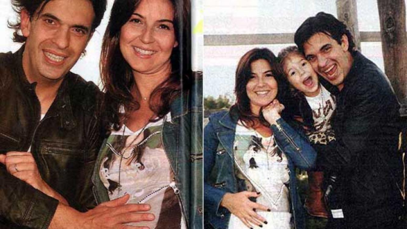 Martín Ciccioli, su mujer Carolina y su hijita Mía. (Foto: revista Paparazzi)