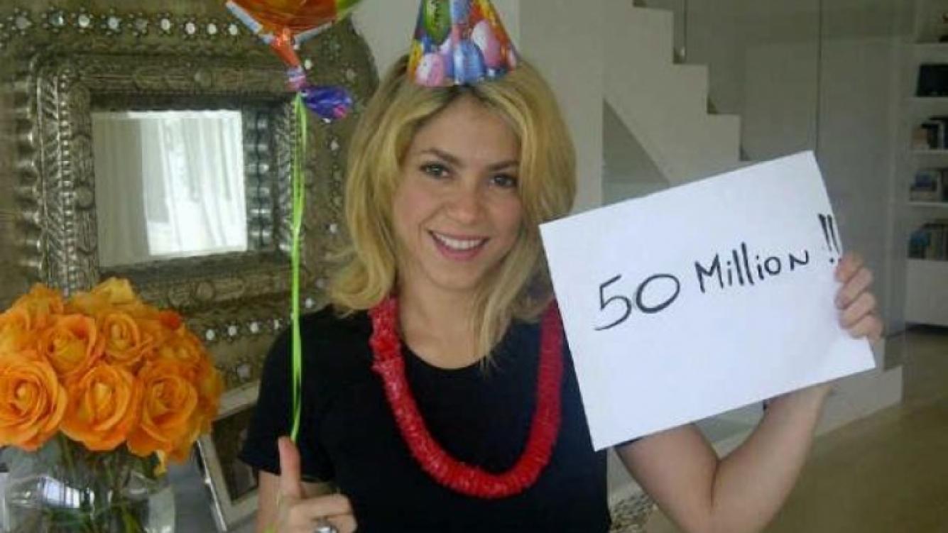 Shakira, de festejo: llegó a los 50 millones de fans en Facebook. (Foto: facebook.com/shakira)