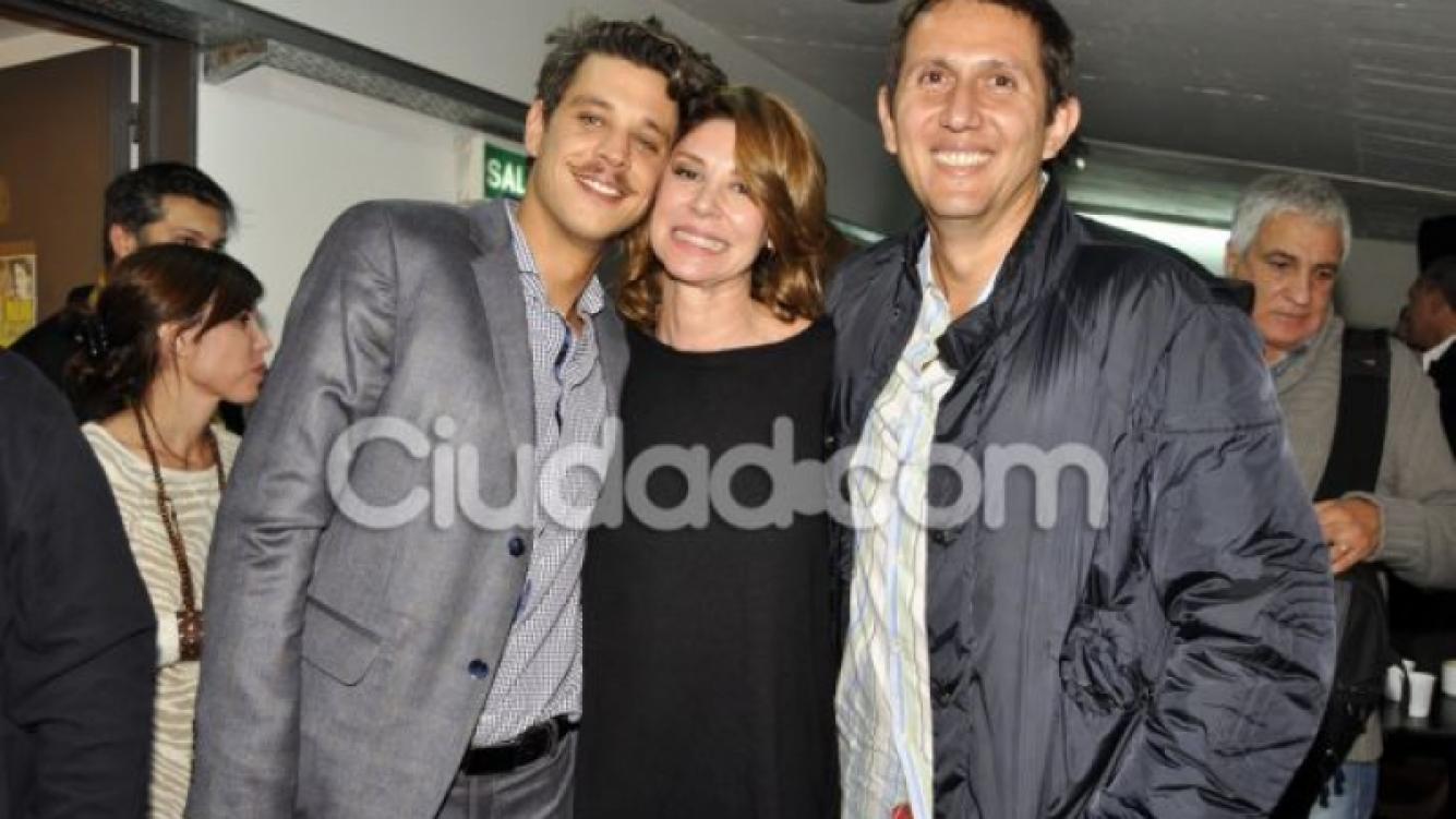 Varsky, Carámbula y Ludovico Di Santo, en el estreno (Foto: Jennifer Rubio).