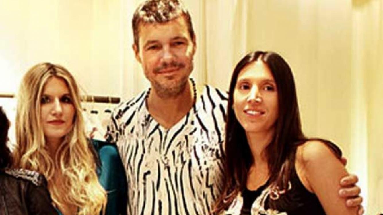 Marcelo Tinelli y su novia, Sol Calabró, en el lanzamiento de Micaela. (Foto: Gente)