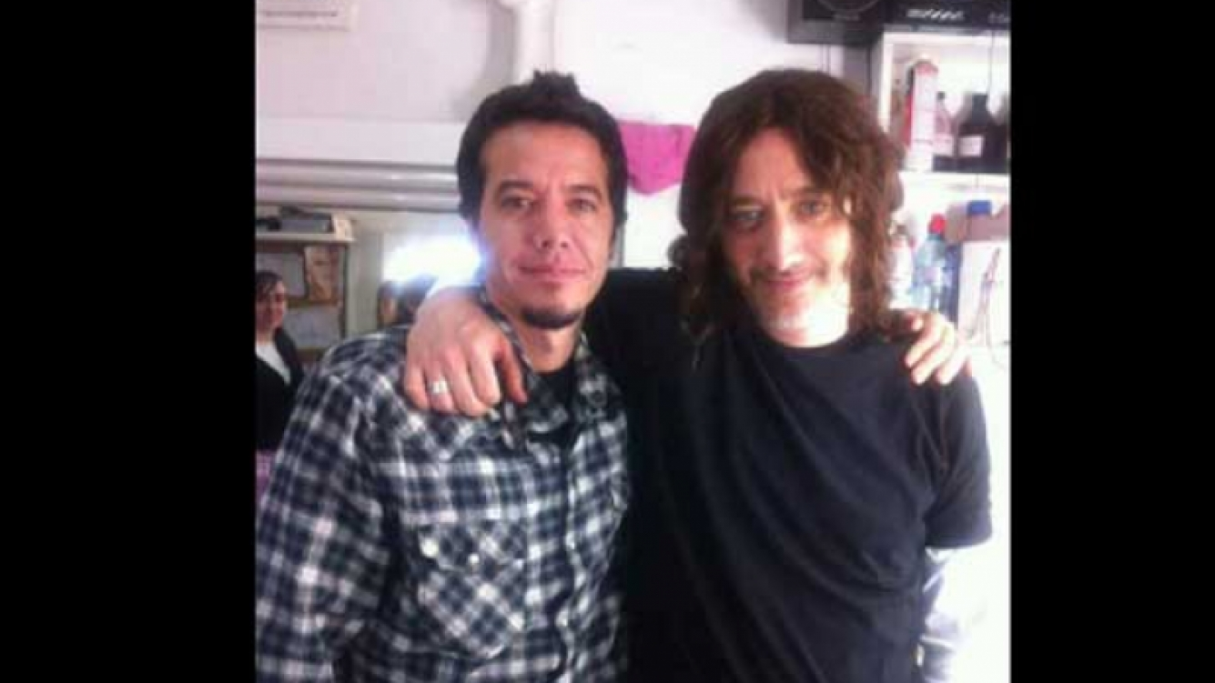 Andy Kusnetzoff en la piel de Dany, con Sebastián Ortega. (Foto: Twitter @andykusnetzoff)