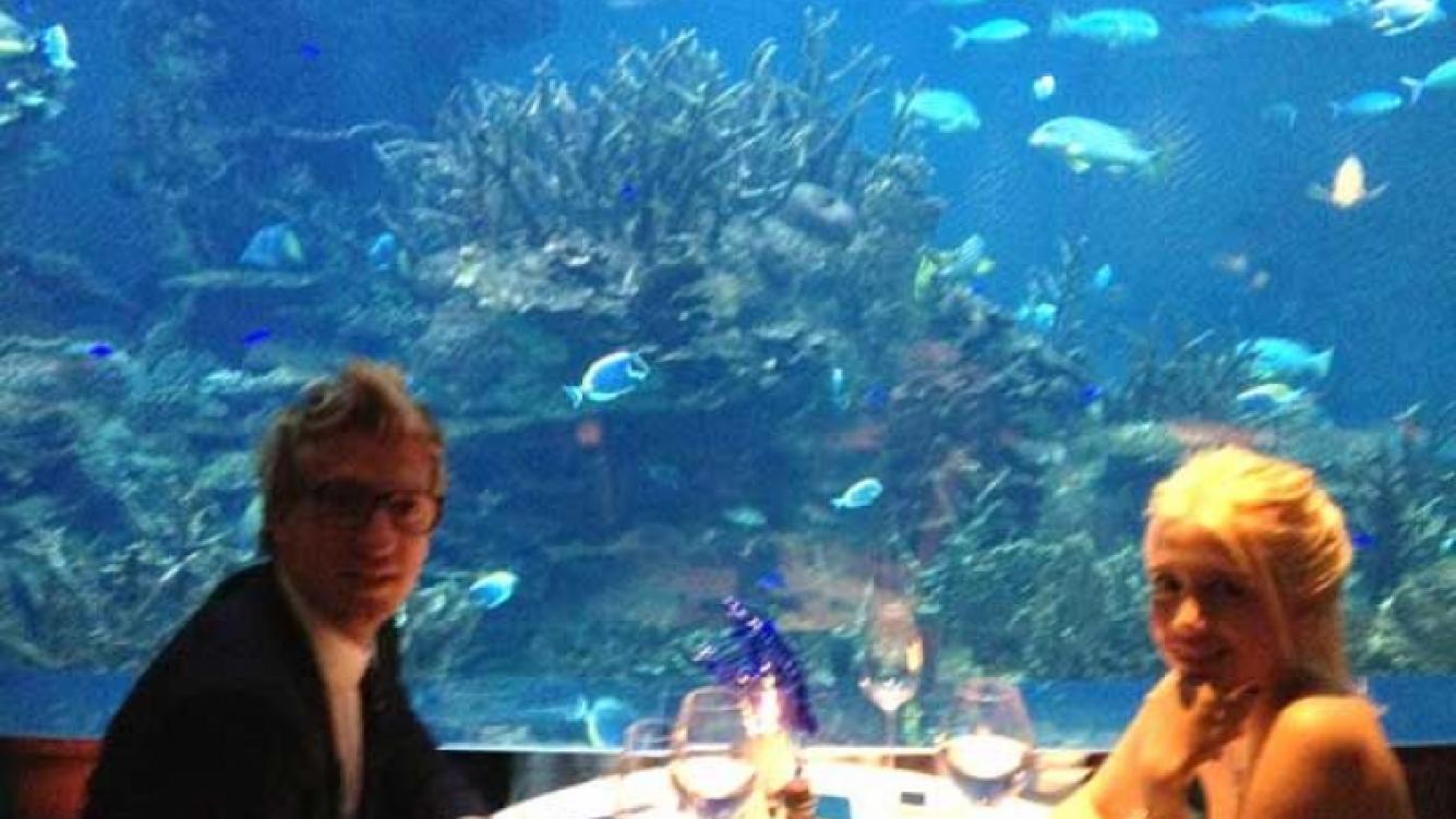 Maxi López y Wanda Nara, otra velada romántica en Dubai. (Foto: Twitter)