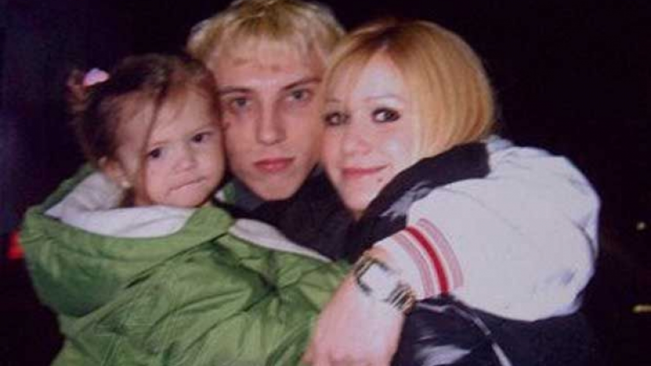 Karina, El Polaco y Sol, la hija de ambos. (Foto: Web)